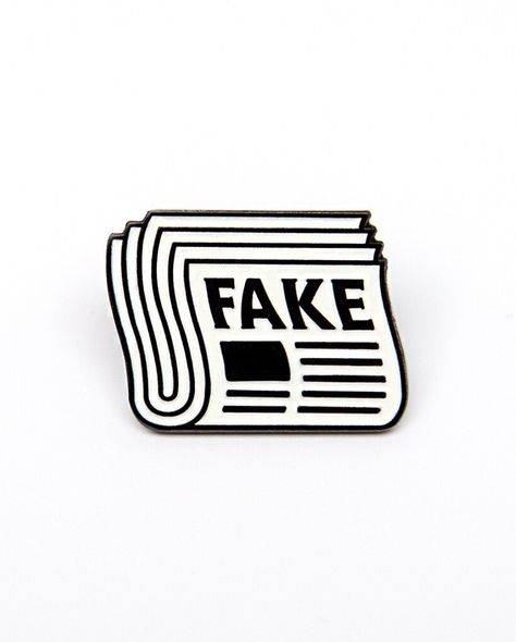 """Pin Lord on Instagram: """"Fake News pin from @junkowears 🔥 This post is fake news! You are fake news! Everything is fake news! Fake news!  Available to purchase…"""""""