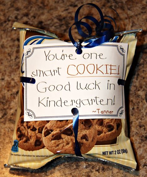 """Classmate End of Year Gifts """"You're one smart cookie! Good luck in Kindergarten!"""""""