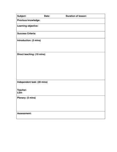 Formal Observation Lesson Plan Template Awesome Blank Lesson Observation By Uk Tea Lesson Plan Templates Teaching Lessons Plans Teaching Lesson Plans Templates