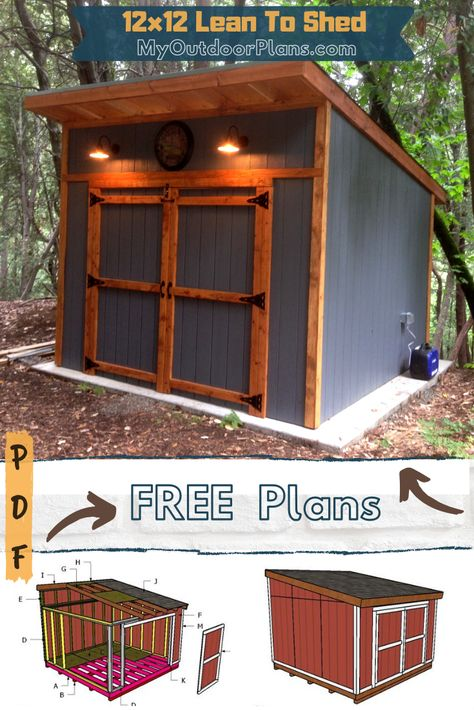 Lean To Shed Plans, Wood Shed Plans, Diy Shed Plans, How To Build Shed, Dyi Shed, Small Shed Plans, Shed Plans 12x16, Backyard Sheds, Outdoor Sheds