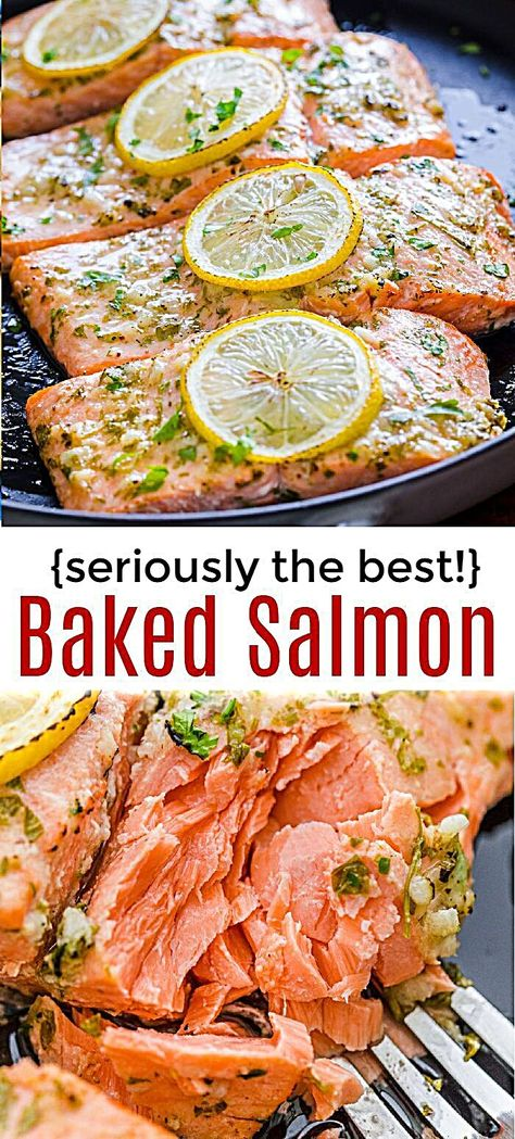 So easy Oven Roasted Salmon with the best marinade 20 minute salmon recipe from start to finish and a family favorite It s a keeper for sure salmon roastedsalmon ovenbakedsalmon ovenroastedsalmon easysalmon garlicsalmon dijonsalmon seafood fish Salmon Dinner, Fish Dinner, Meals With Salmon, Clean Eating Salmon, Tasty Meal, Oven Roasted Salmon, Oven Salmon Recipes, Baked Salmon With Lemon, Chicken Recipes