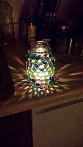 My diy mason jar candle holder :) so proud