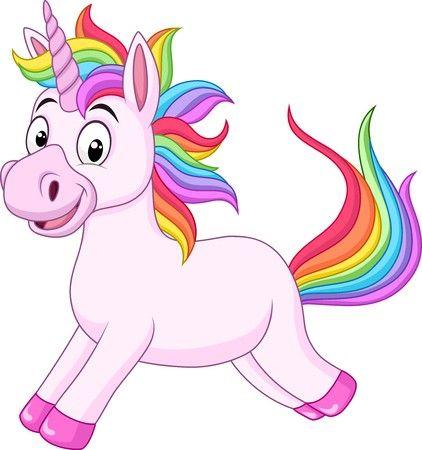 Vector libre de derechos A102171206 - dibujos animados arco iris unicornio  caballo 3e1dbb2fec7a9