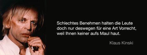 Klaus Kinski über schlechtes Benehmen !