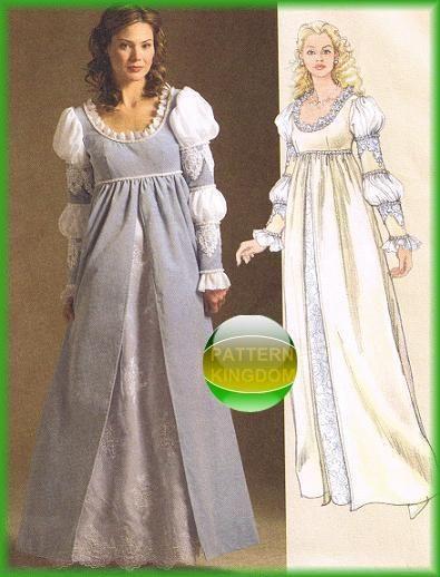 McCalls 5444 Italian Renaissance Dress/Gown Patterns