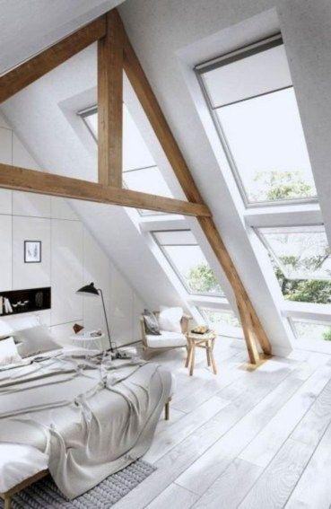 40 Awesome Loft Apartment Decorating Ideas Loft Spaces Attic Bedroom Designs Attic Bedroom Decor
