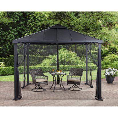 b3b59b5e2ad0950a42220263b227e37e - Better Homes And Gardens Sullivan Ridge Hardtop Gazebo With Netting
