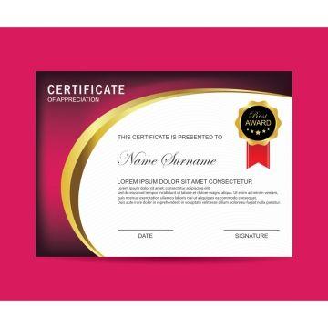 Modern Certificate Certificate Design Template Certificate Certificate Templates
