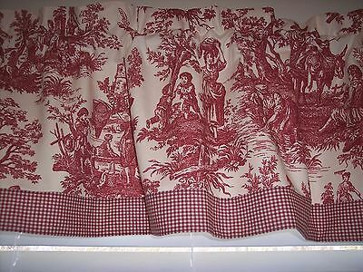 Waverly Country House Toile Red Fabric Toile Curtains Red Curtains Custom Curtains