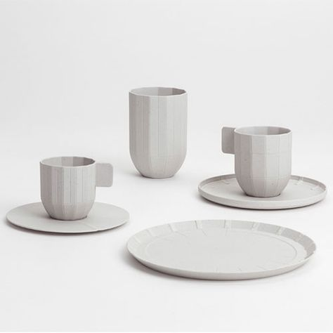HAY, Paper Porcelain, cups, plates, saucers, light gray, kitchen things