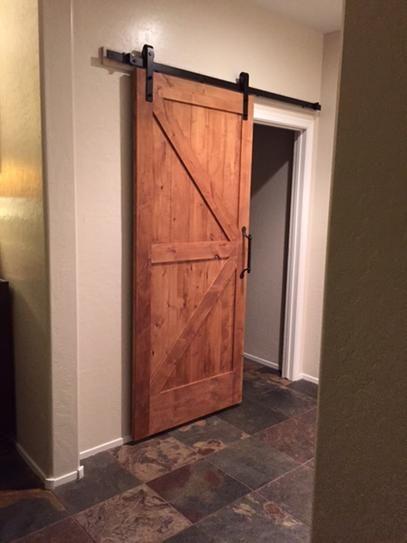 Z Bar Knotty Alder Interior Barn Door Slab With Sliding Door Hardware Kit |  Interior Barn Doors, Knotty Alder And Barn Doors