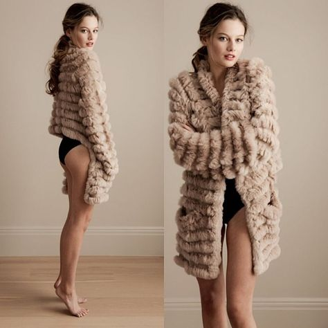 Beautiful H Brand Jessica Rabbit Knitted Fur Cardigan $240 COMING SOON in camel and black-