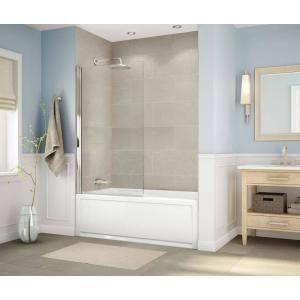 Dreamline Aqua 48 In X 58 In Semi Frameless Hinged Tub Door In