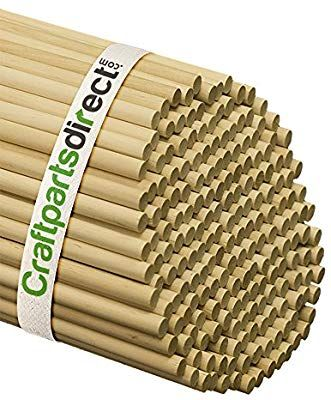 Amazon Com 3 8 Inch X 48 Inch Wooden Dowel Rods Unfinished Hardwood Dowels For Crafts Woodworking By Craf Crafts Craft Supplies Arts And Crafts Supplies