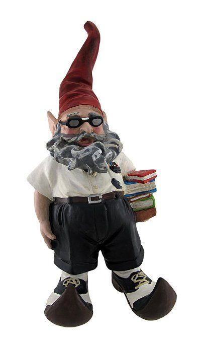 Perfect for the bookworm's garden...Poindexter the nerdy Gnome