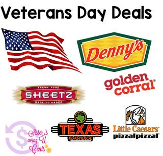 Sisterssavingucents Veteran S Day Deals Freebies Veterans