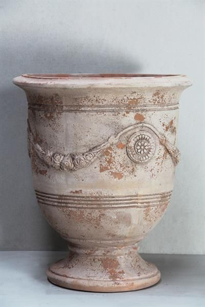 Antiqued Terracotta Trivoli Urn D61cm Garden Pots Terracotta Painted Pots