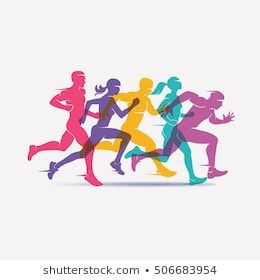 Running People Set Silhouettes Sport Activity Stock Vector Royalty Free 564569218 Sports Activities Royalty Free Sports