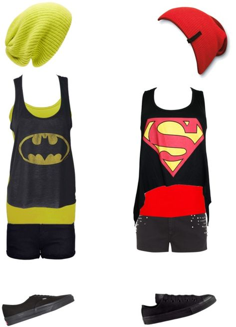 """""""Batman and superman"""" by ak00 ❤ liked on Polyvore"""