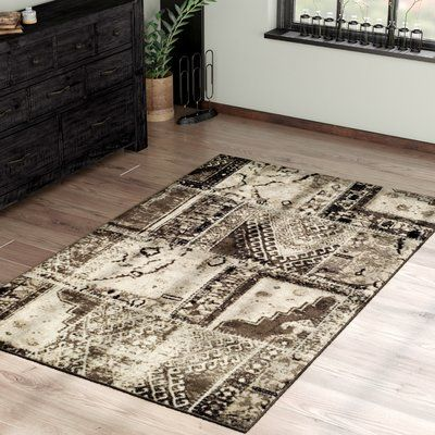 Williston Forge Kelsie Ivory Brown Area Rug Rug Size Rectangle 8