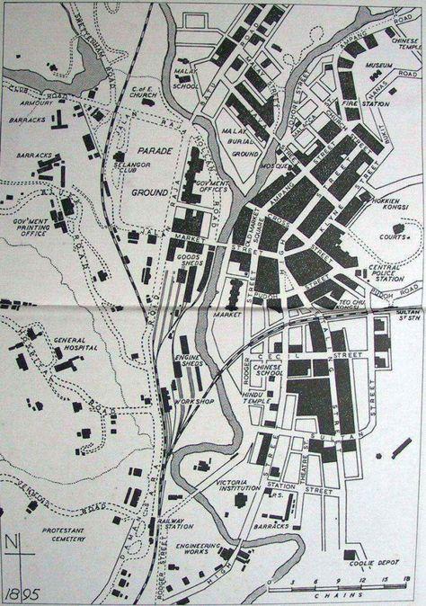 Map Of Kuala Lumpur 1895 719x1023 Kuala Lumpur Map Kuala Lumpur Map