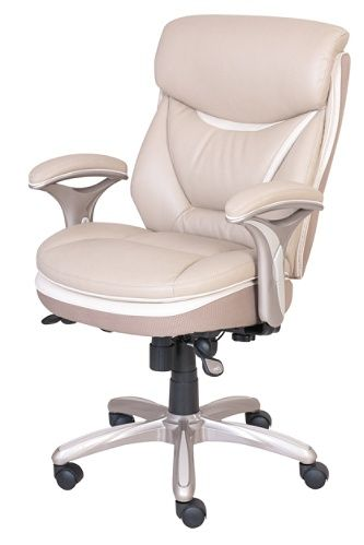 Serta Smart Layers Verona Manager Chair Taupechampagne By Office Depot Officemax Executive Leather Office Chair Chair White Leather Chair