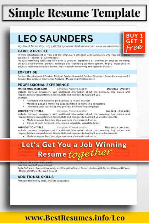 Resume Template Finley Powell Resume Templates Optimised for