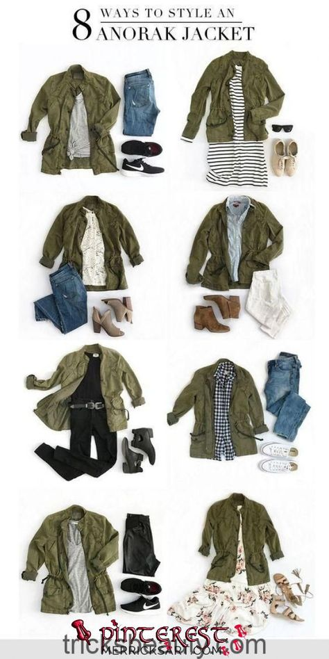 Merrick's Art // Style + Sewing for the Everyday Girl : 8 Ways to Style an Olive Jacket My favorite layer for early fall is a lightweight army jacket. Check out these olive green jacket outfit ideas that are great for all occasions.