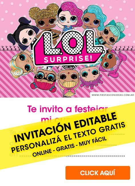 Tarjeta De Cumpleaños De Lol Surprise Crear Invitaciones