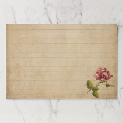Vintage Journal With Rose Paper Pad Zazzle Com In 2020 Vintage Journal Paper Pads Vintage Writing Paper