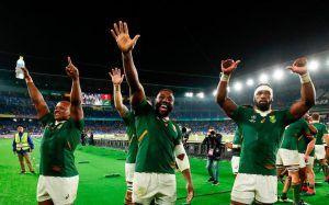 Coupe Du Monde De Rugby Les Springboks Dafrique Du Sud En Finale Rugby Coupe Du Monde Coupe Du Monde De Rugby