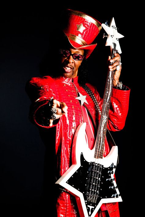 Canvas Bootsy Collins Performs with Deee-Lite Art print POSTER