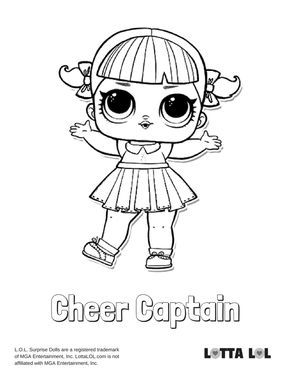 Cheer Captain Coloring Page Lotta Lol Bear Coloring Pages Cheer Captain Cool Coloring Pages