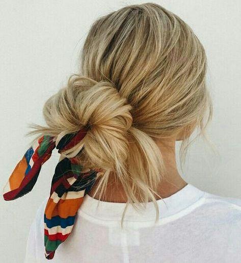 COQUE BAIXO ENFEITADO COM LENÇO - @allyfashion - #cabelo #penteado #cabelopreso #coquebaixo #chignon #gostodisto #lenços #bandana #lenco #echarpe #penteados