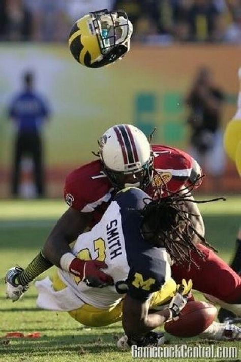 The Hit! #outbackbowl2013 Proud to be a Gamecock!!!