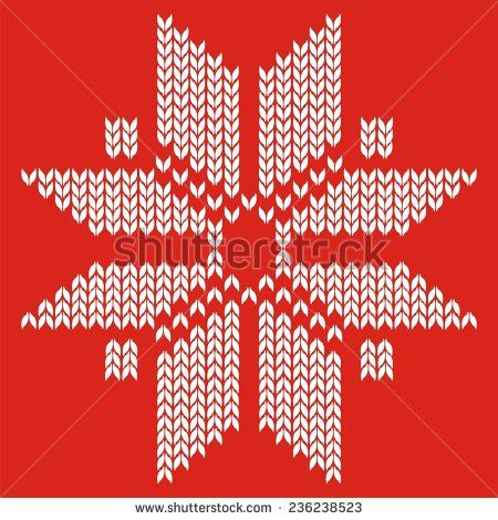 510c2cf6c8e5 Traditional snowflake ornamental scandinavian pattern for knit and ...