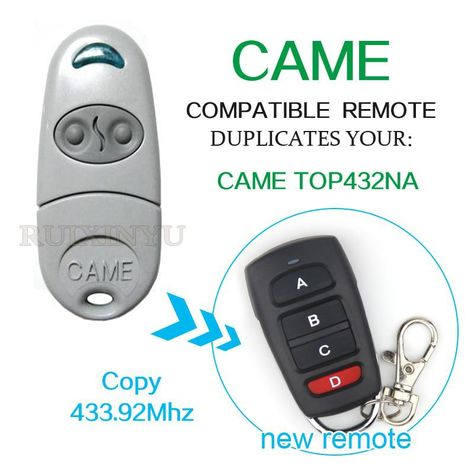 Came Remote Control Came Top432na Smart Universal Remote Control