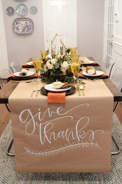 Thanksgiving Table Decor Ideas 20 Thanksgiving Table Decorating Ideas Thanksgiving Table Decorations Thanksgiving Table Settings Thanksgiving Decorations