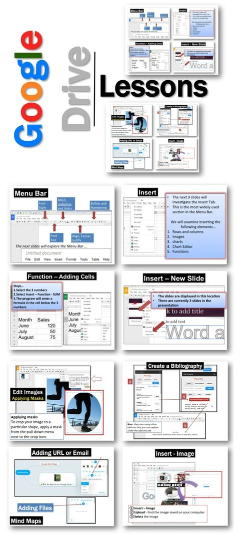 •These lessons contains screen shots, activities, marking schemes, tips and instructions for using Documents, Presentations, Spreadsheets, Drawings and Forms within Google Drive.  Update: Lessons for the new Google Add-ons and Updates 2014 have been added. #education