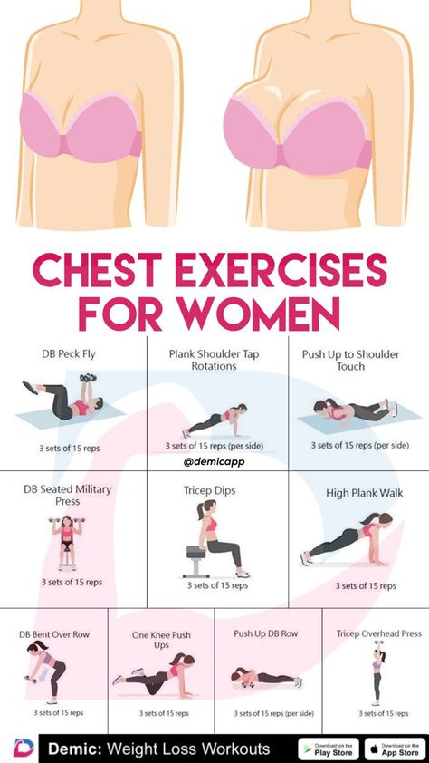 Best Chest Exercises For Women #chestworkouts