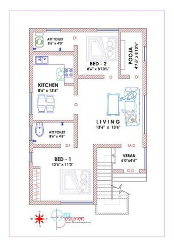South Facing Plan Image Results Farmhouse Floor Plans Model House Plan Simple House Plans