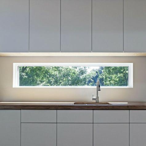 küche mit langen fenster über dem waschbecken - 41 interessante - küchenspiegel selber machen
