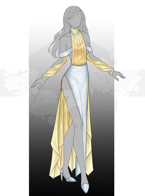 [Closed] Auction Outfit by Dress Design Sketches, Fashion Design Drawings, Fashion Sketches, Hero Costumes, Character Costumes, Character Outfits, Drawing Anime Clothes, Dress Drawing, Anime Dress
