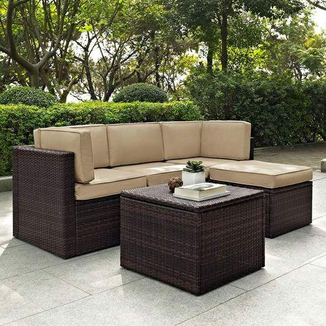 CLP Polyrattan-Gartengarnitur SIERRA Sitzecke mit dazugehörigem - gartenmobel polyrattan eckbank