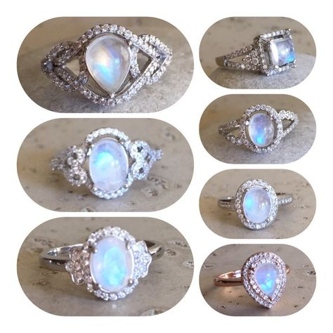We have created a vast collection of moonstone rings, which make a great engagement ring! Handmade by Belesas with love!