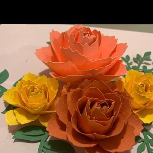 Paper Flowers Pdf Paper Flower Template Digital Version Now