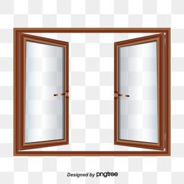 Vector Open Windows Double Open Wood Glazing Png Transparent Clipart Image And Psd File For Free Download Window Clipart Open Window Windows