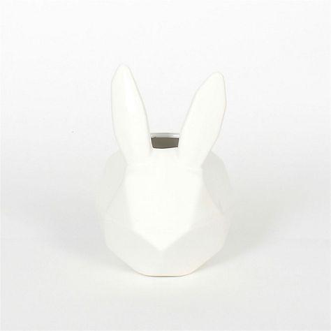 Lapin Deco Petit Vase Lapin En Ceramique Blanche H19cm Petit Vases Ceramiques Blanches Mobilier De Salon