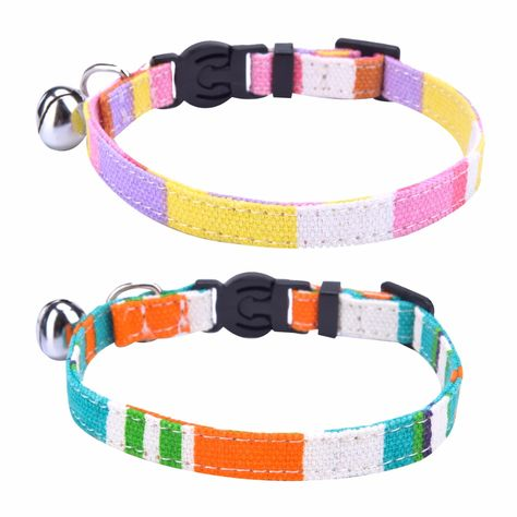 PET TOUCH CAT COLLAR TAG REFLECTIVE SAFTEY KITTEN PUSSY BELL ANIMAL PETS RING