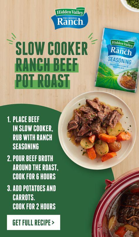 Slow Cooker Ranch Beef Pot Roast